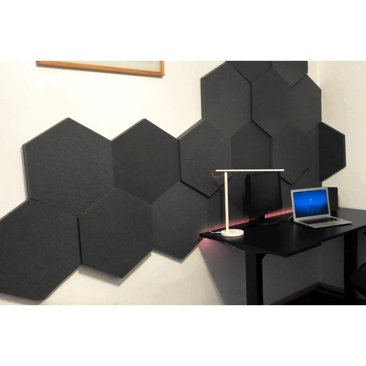 Akustická samozhášavá pena Hexagon modrá 50x50cmx5cm megamix