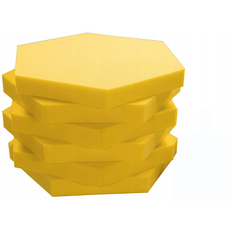 Akustický panel Hexagon žltá 50x50cmx5cm samozhášavá nehorľavá pena megamix