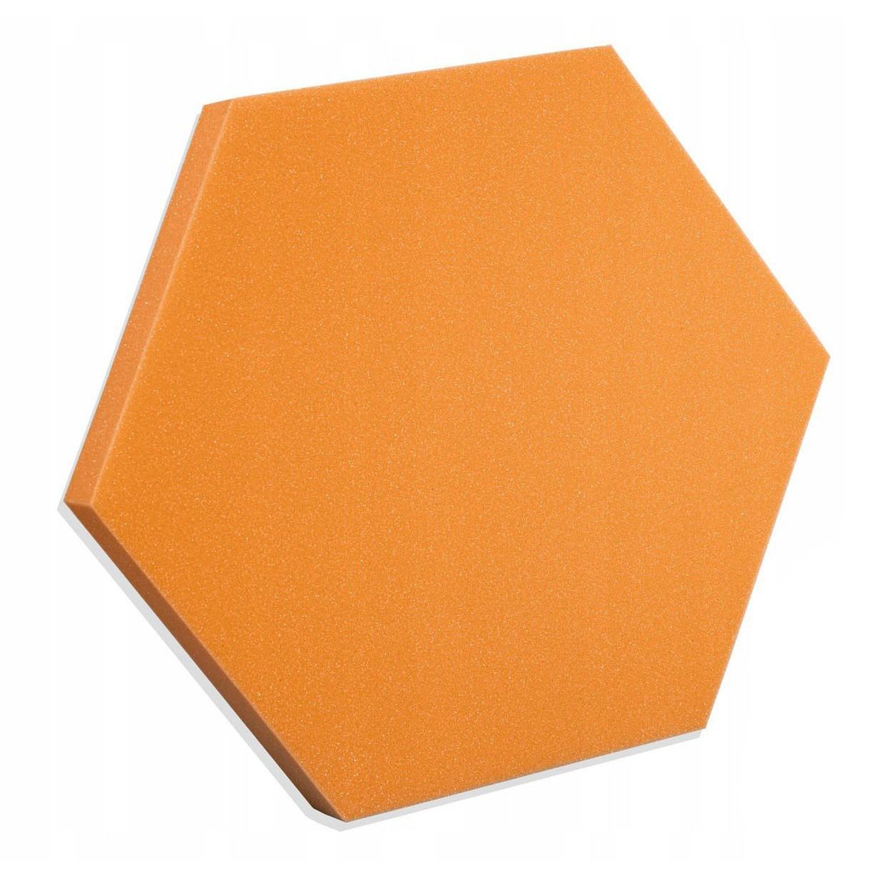 Akustický panel Hexagon oranžový 50x50x3cm samozhášavá nehorľavá pena megamix