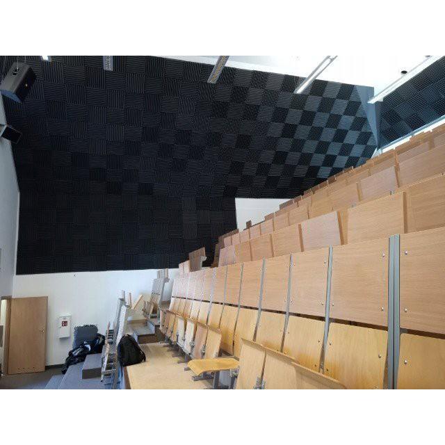 Akustický panel 50x50x5cm žltý samozhášavý nehorľavý megamix