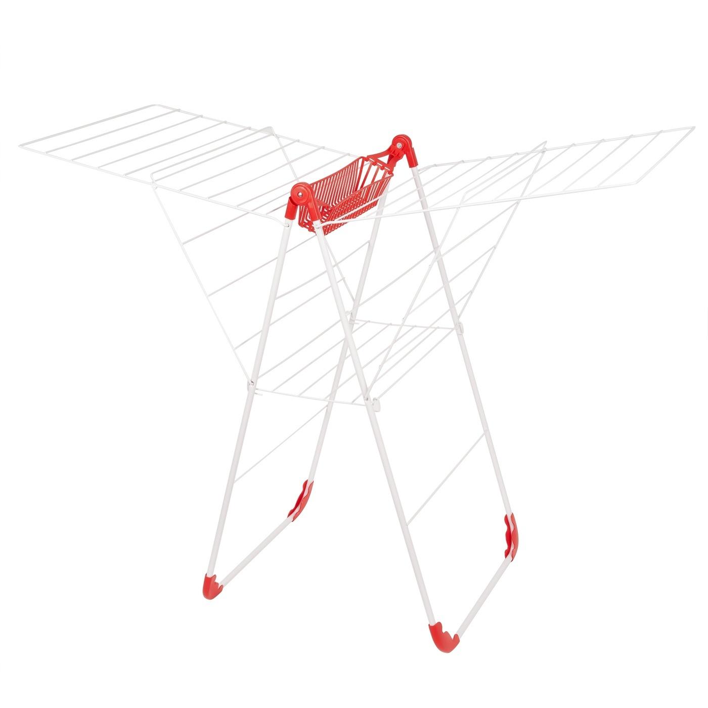 Balkónová sušička Lucy 56x134x100cm biela červená megamix.sk