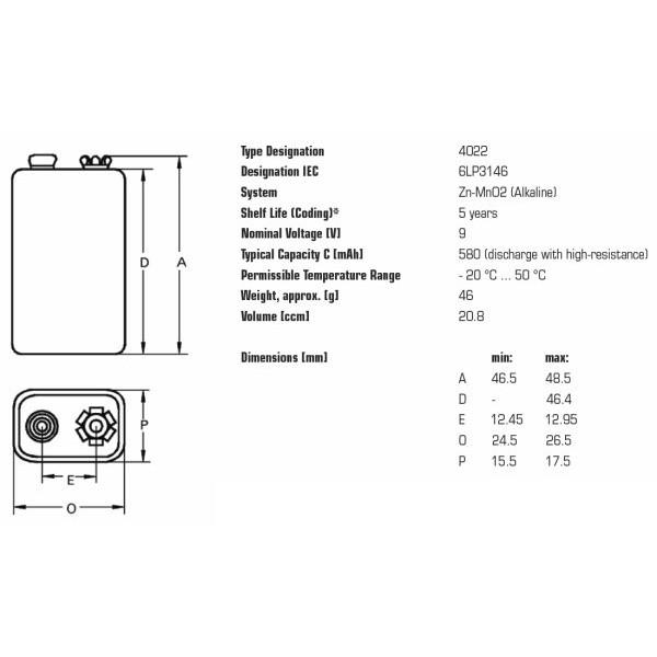 batéria 9V alkalická VARTA 6LR61 megamix.sk