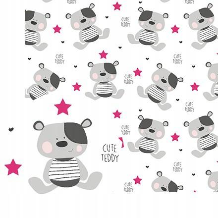 bavlna látka 50x160cm 140g/m2 Cute Teddy megamix.sk