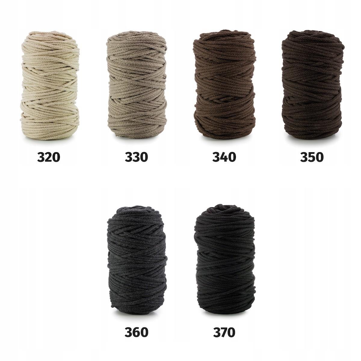 bavlnená šnúra 5mm 100m na háčkovanie pletenie megamix.sk
