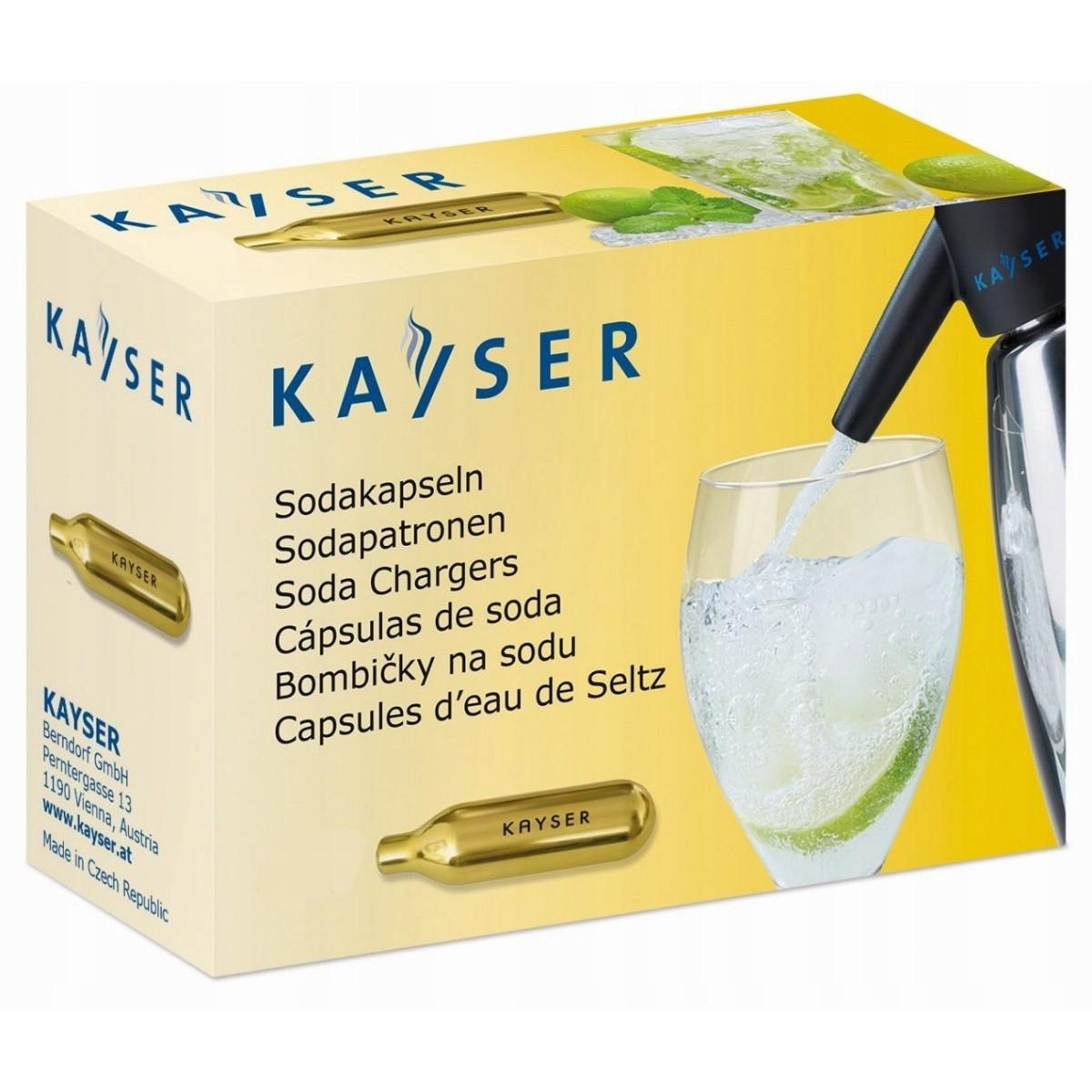 bombičky na sifón sódu jednorázové 50ks CO2 KAYSER megamix.sk