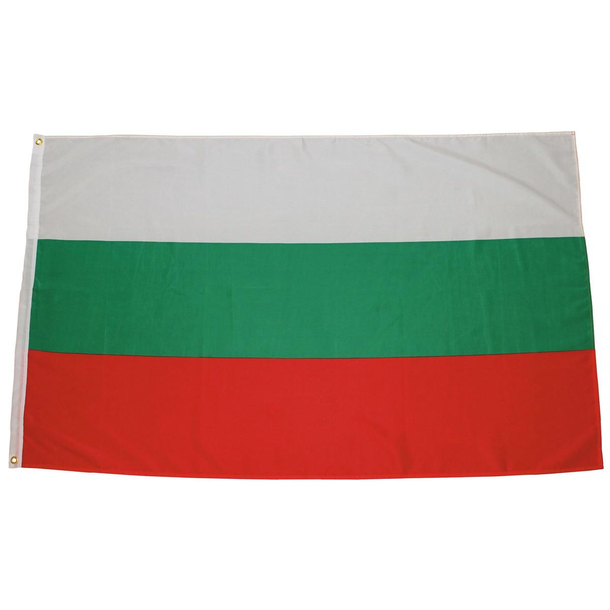 Bulharská vlajka 150x90cm obojstranná polyester megamix.sk