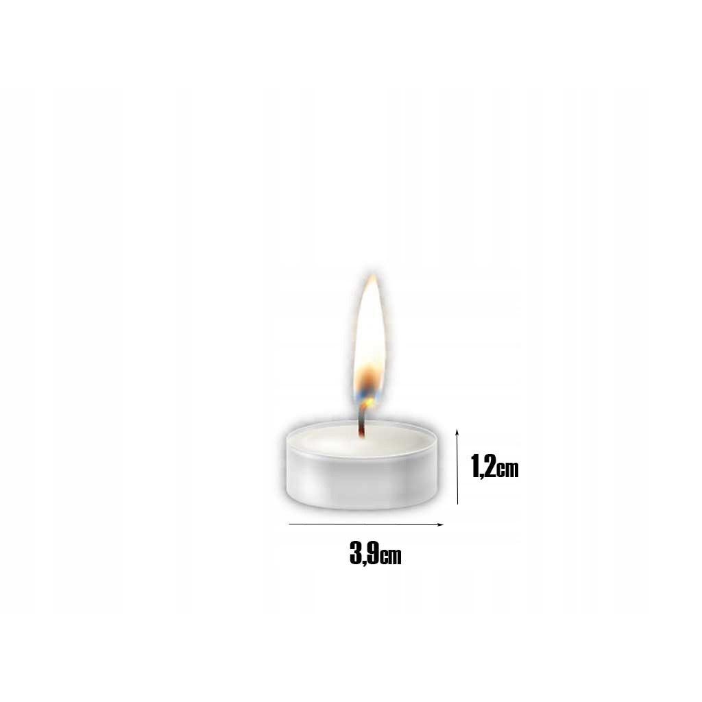 čajové sviečky 100ks biele Tealights megamix.sk