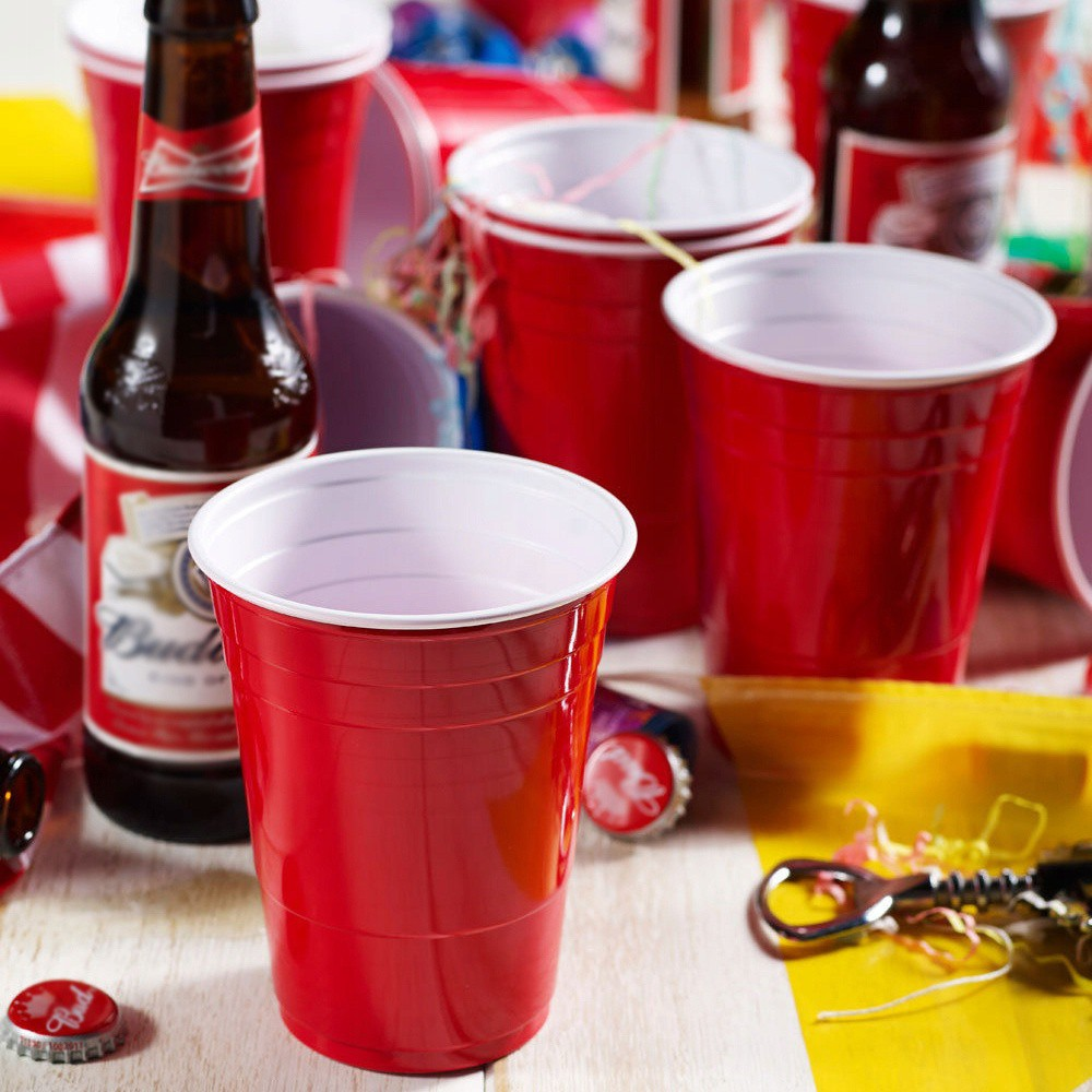 Červené poháre americké RED CUP beerpong 50ks megamix.sk