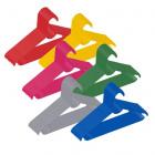 Farebné vešiaky na detské odevy 25ks