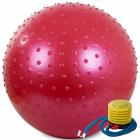 Gymnastická lopta 55cm pumpa červená