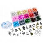 Korálky na navliekanie výrobu náramkov náhrdelníkov Present