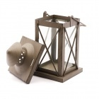 Kovový lampáš 10x10x20cm antracitový