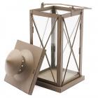 Kovový lampáš 18x18x40cm antracitový