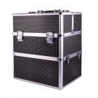 Kozmetický kufrík rozkladací 34x25x42cm Makeup Box XL čierny