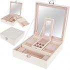 Krabička na šperky šperkovnica drevená