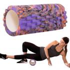 Masážny valec 33x14cm fialový fitness crossfit
