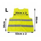 Reflexná vesta žltá L polyester 53x66cm