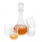 Sklenená karafa a štyri poháre Euforia 800 ml / 200 ml