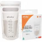 Tašky na skladovanie potravín 150ml 30ks sterilné vrecká AKUKU