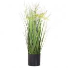 Umelá tráva v kvetináči kvety 60 cm