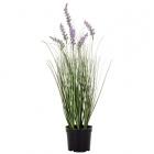 Umelá tráva v kvetináči kvety levanduľa 60 cm