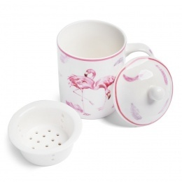Porcelánový hrnček so sitkom Flamingo 330 ml