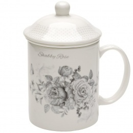 Porcelánový hrnček so sitkom Shabby Rose 330 ml