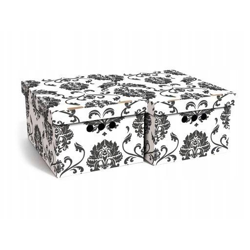 dekoratívne krabice 2ks A4 kartón vzorované megamix.sk