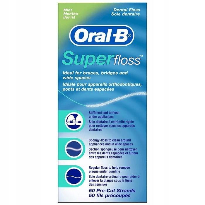 dentálna niť oral-b super floss 50ks megamix.sk