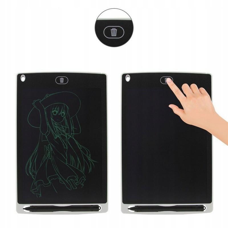 Digitálny grafický tablet na kreslenie pre deti LCD 8.5 čierny + pero