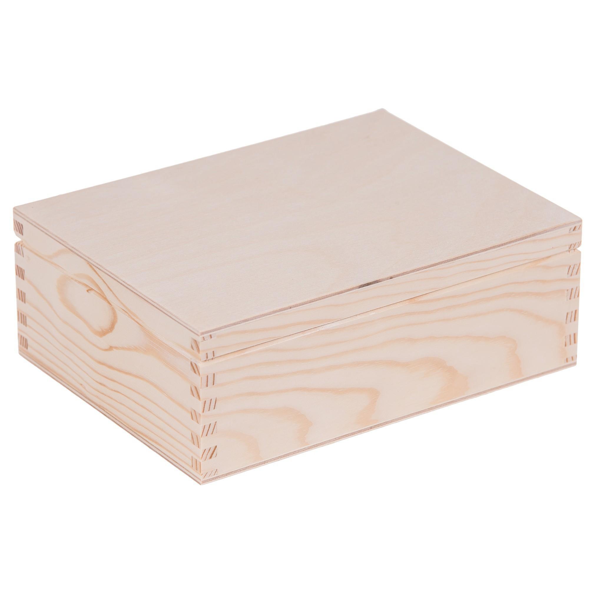 drevená krabička 6 priehradok borovica 16x22x8cm megamix.sk