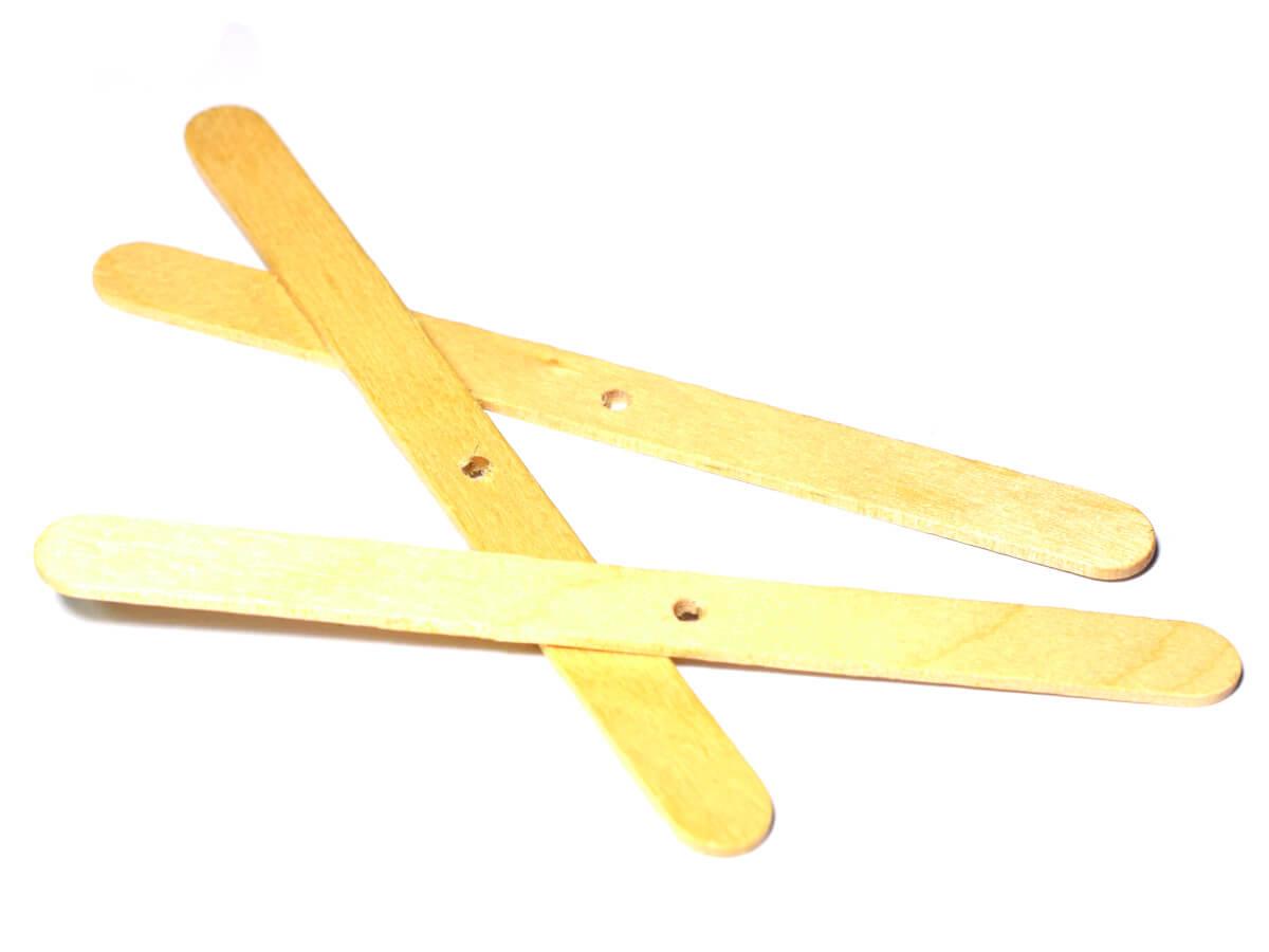 Drevené tyčinky, držiak knôtu