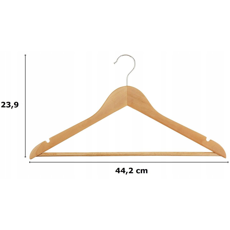 Drevené vešiaky 10ks na oblečenie megamix.sk