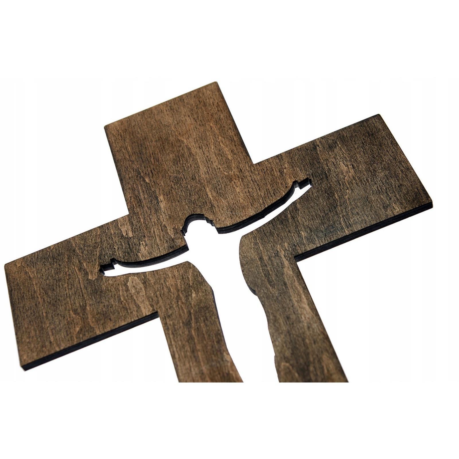 drevený kríž na stenu 20x13x0,7cm megamix.sk