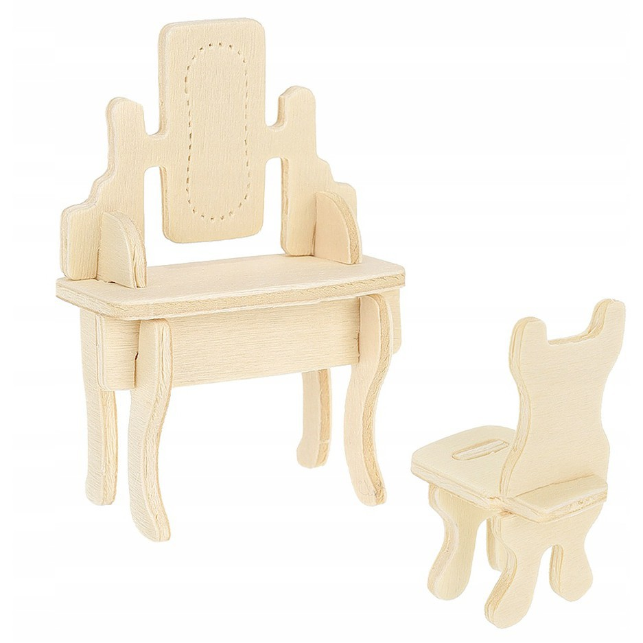 drevený nábytok do domčeka DYI Sada 34ks urob si sám megamix.sk