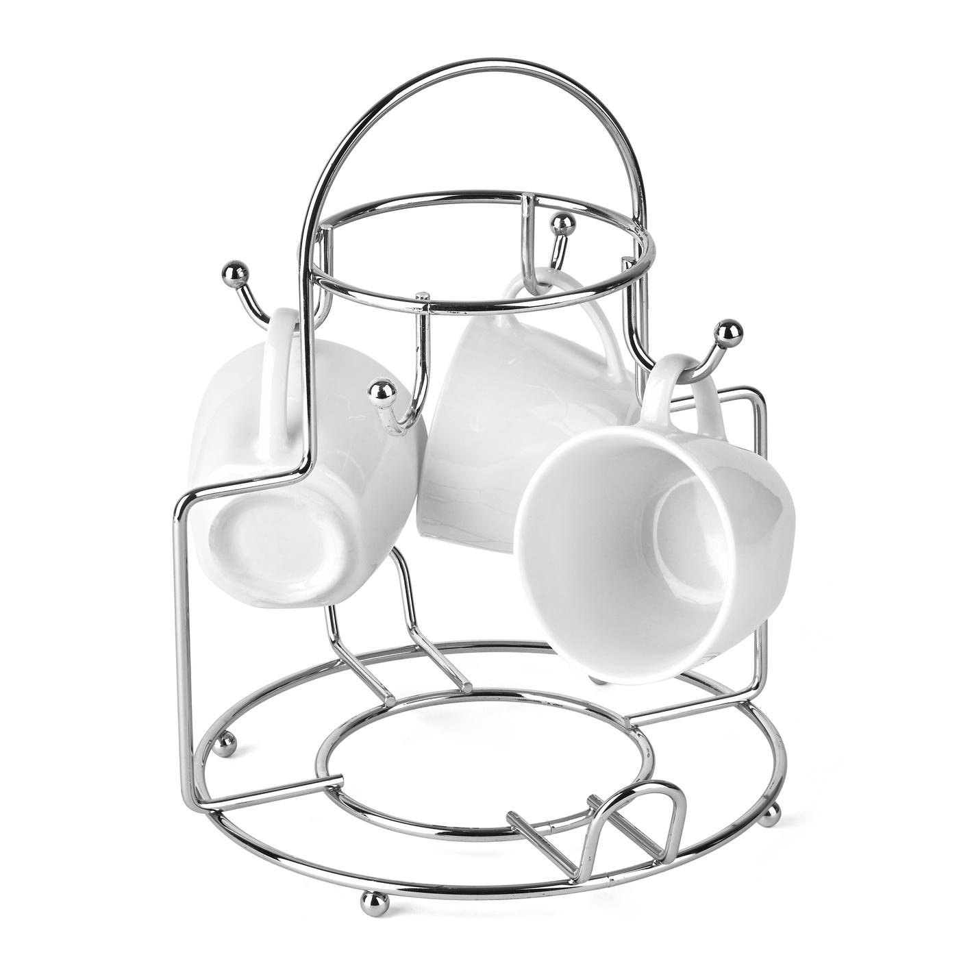 Drôtený stojan na poháre a čajník 21,8 x 23,5 x 27 cm