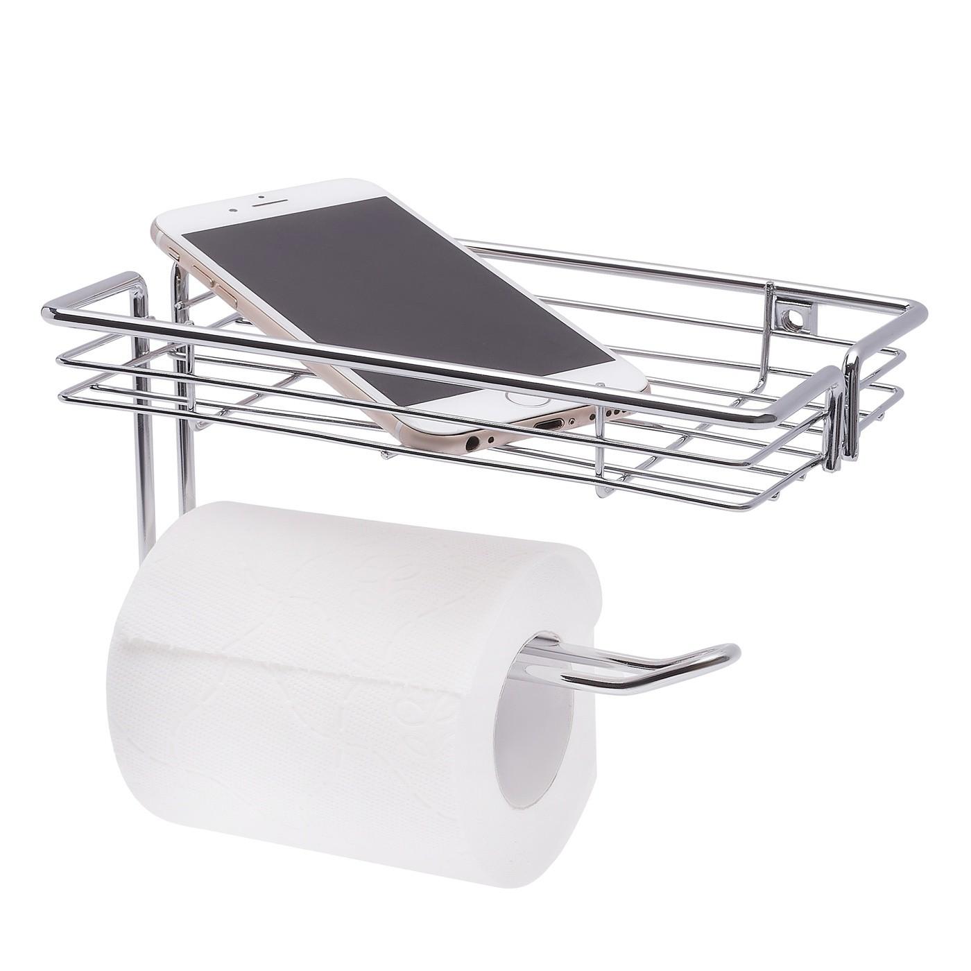 Držiak na toaletný papier s poličkou 18,5 x 11,5 x 9 cm megamix.sk