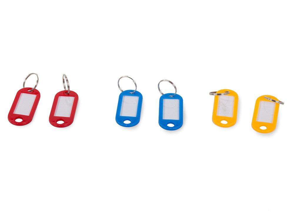 farebná kľúčenka 100ks popisná s krúžkom megamix.sk