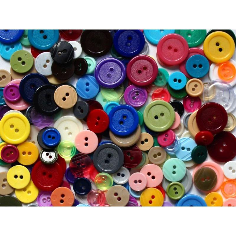 farebné gombíky 3 veľkosti 500ks 11,15,20mm megamix.sk