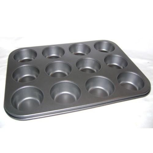 Forma na muffiny teflónový plech + 12ks silikónových foriem megamix.sk