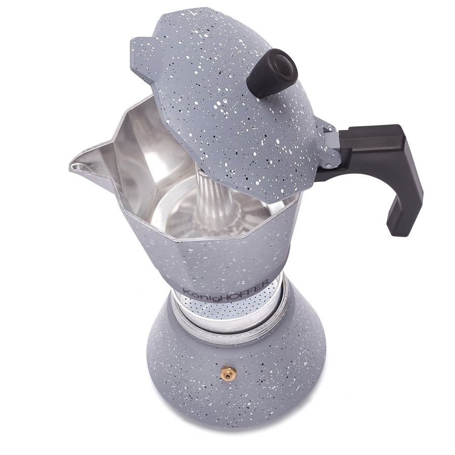 Hliníkový espresso kávovar KonigHOFFER Gray Stone Marble 300 ml megamix.sk
