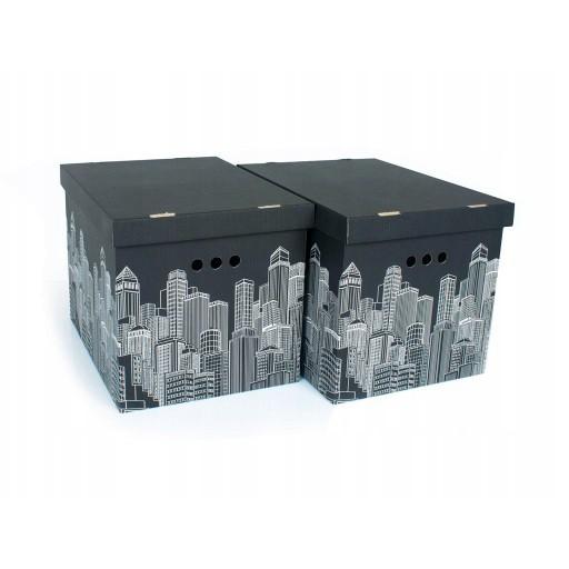 kartónová dekoratívna krabička 2ks 42x32x32cm megamix.sk