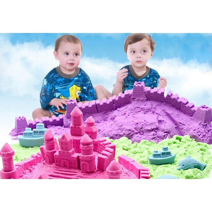Kinetický piesok 2kg formy farby + bazén megamix.sk