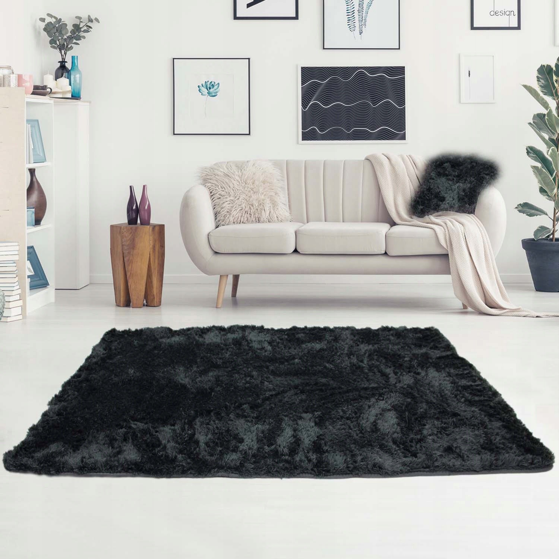 koberec jemný 120x170cm vysoké vlasy polyester plyš megamix.sk