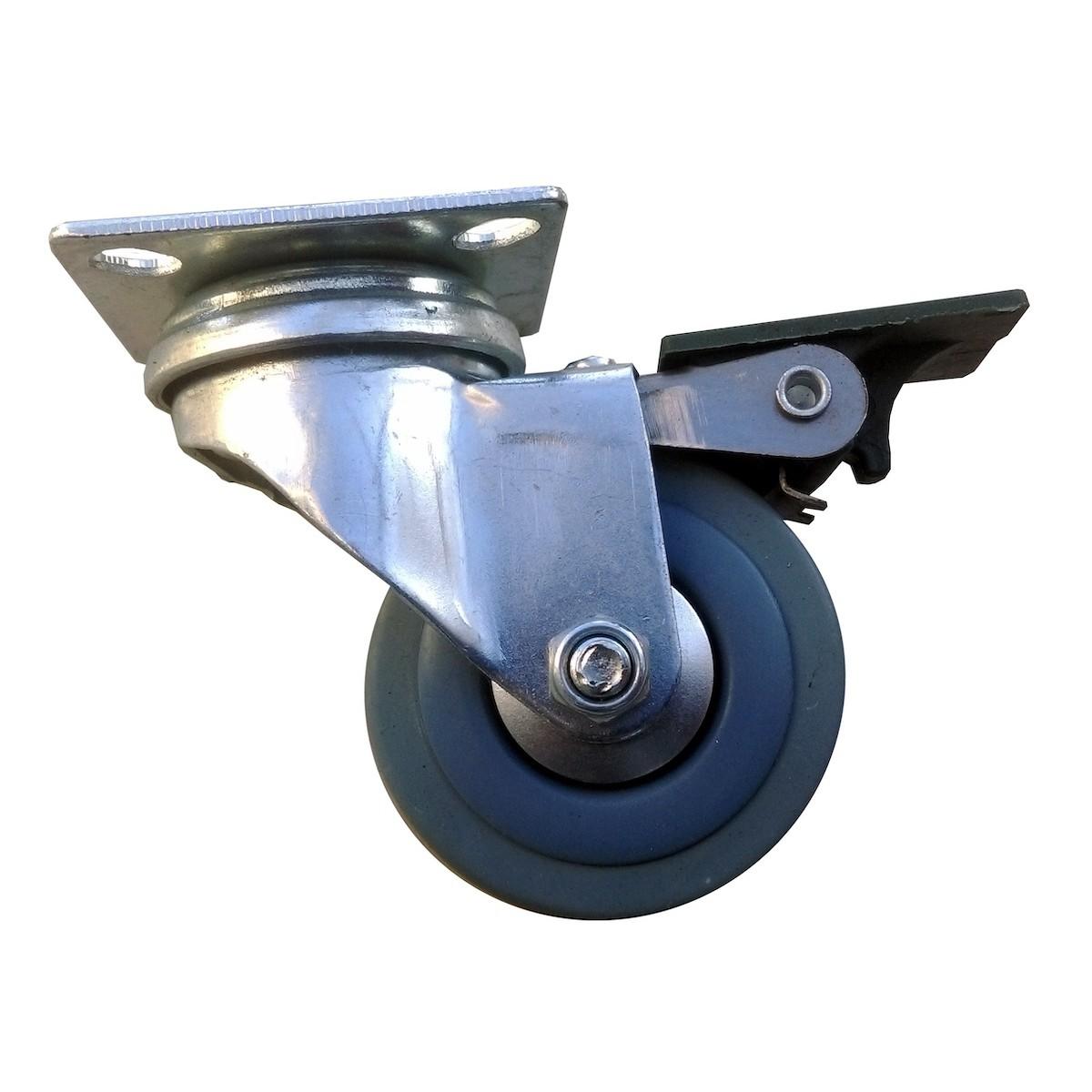 koleso náhradné 50mm sivé 40kg kolesová brzda HABI megamix.sk