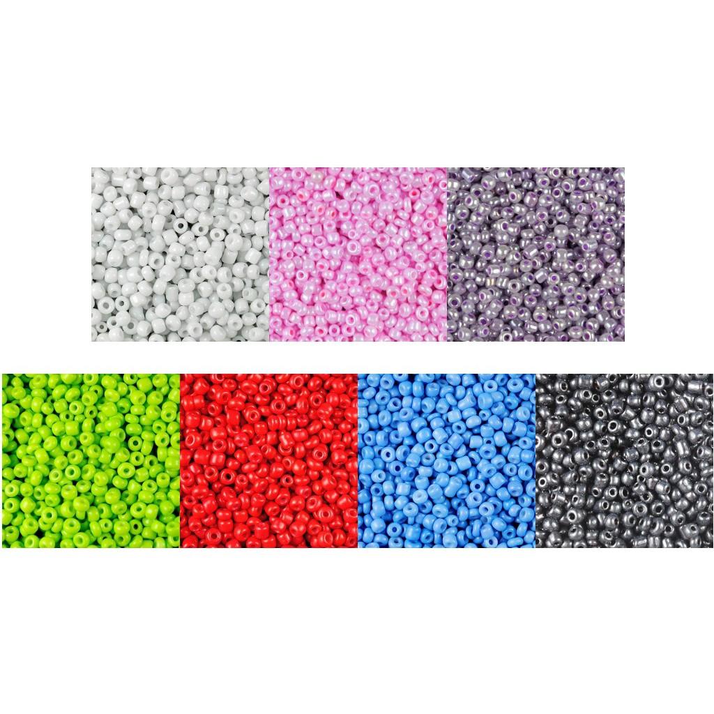 korálky seeds 3500ks 7 farieb 2mm 8g megamix.sk