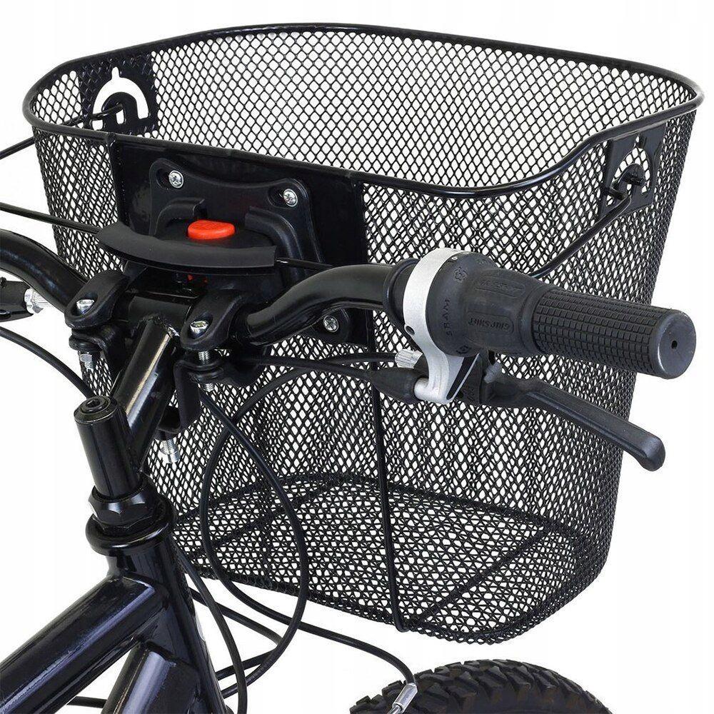 Košík na bicykel 33x24x25cm čierny do 6kg megamix.sk