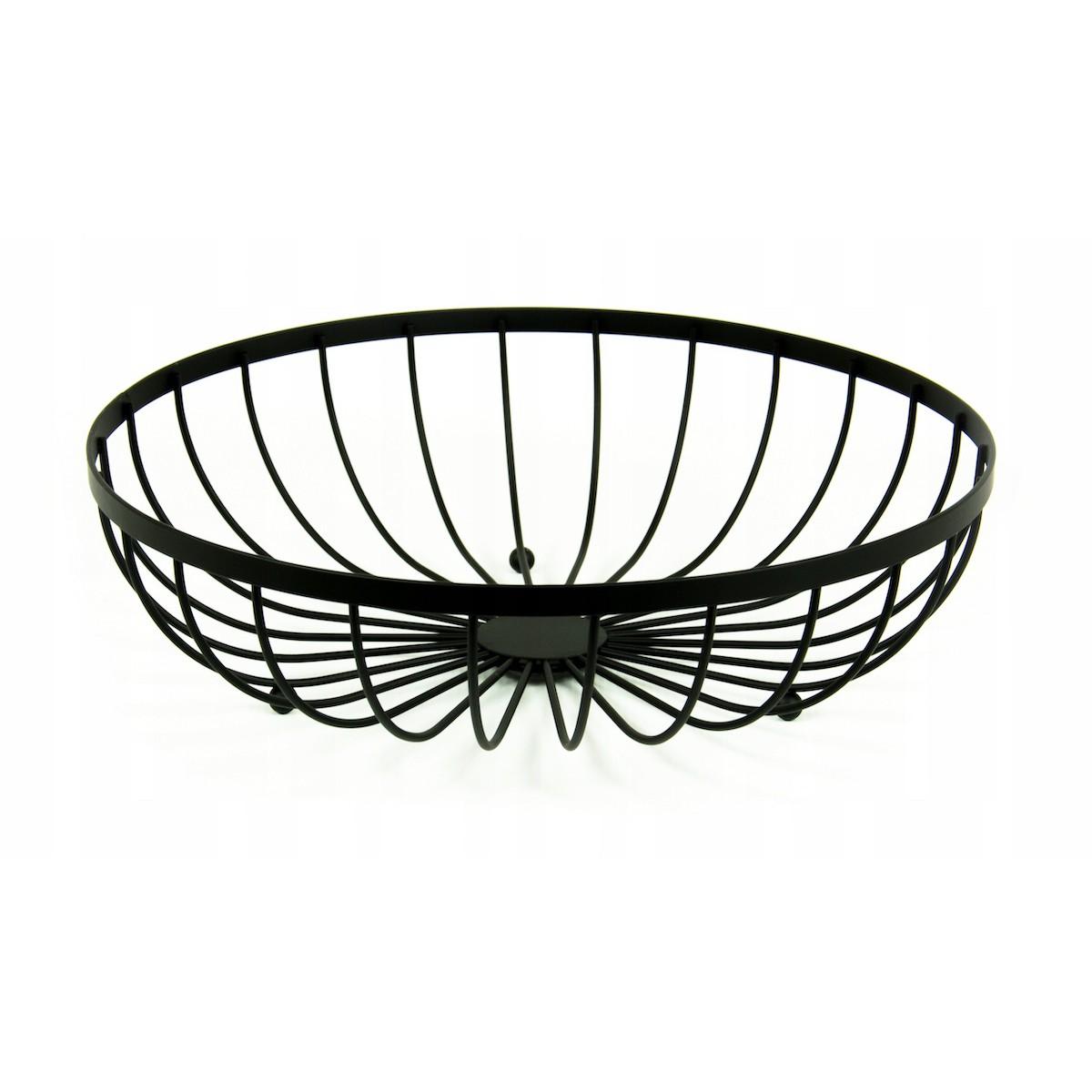 košík na ovocie čierny drôtený 30x8cm megamix.sk
