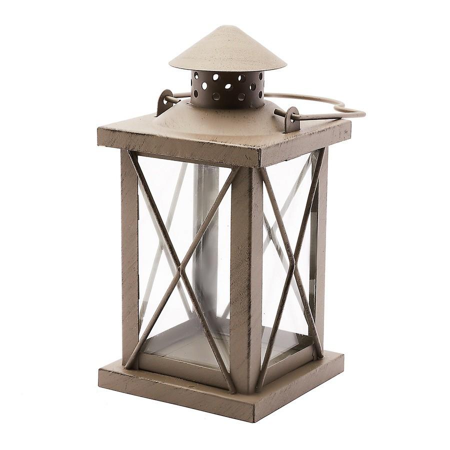 Kovový lampáš 10 x 10 x 20 cm antracitový megamix.sk