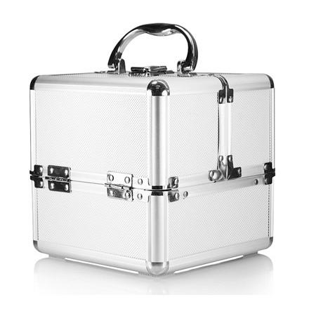 kozmetický kufrík rozkladací 18x18x18cm strieborný megamix.sk
